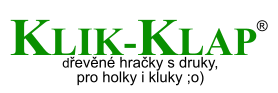 logo Klik-Klap with Czech slogan