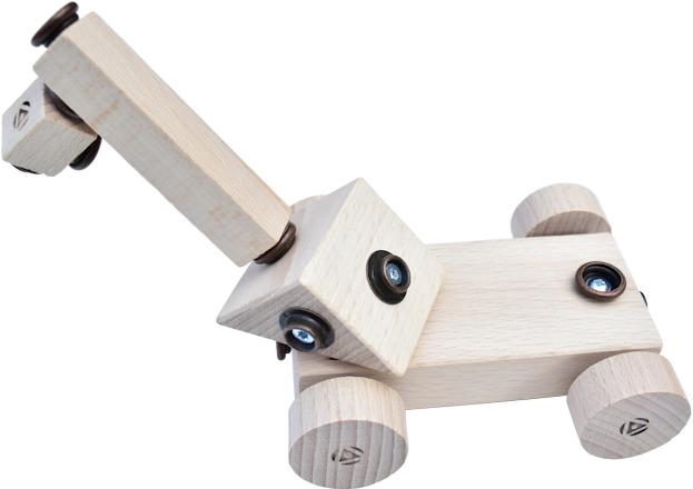 Crane wooden toy by WoodFormers