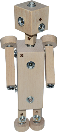 Mrs. Robot - wooden toy by WoodFormers